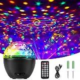 Luci Discoteca LED, Qxmcov Luce da Discoteca Palla con Telecomando e USB Cavo, Lampada da Discoteca Luci Party LED Luci da Pa