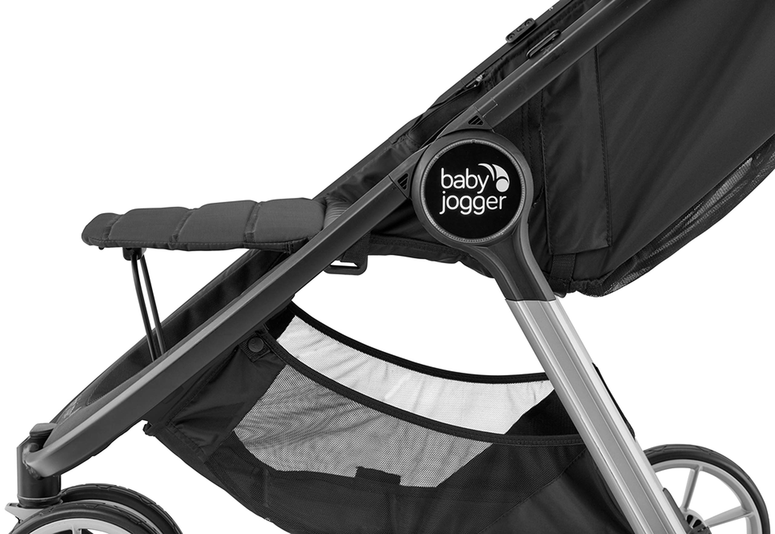 baby jogger City Mini 2 Single Stroller Slate Baby Jogger The baby jogger city mini 2 has an all new lightweight and compact design with the signature one-hand compact fold, with an auto-lock it's remarkably nimble and ready for adventure Lift a strap with one hand and the city mini 2 folds itself: simply and compactly. The auto-lock will lock the fold for transportation or storage The seat, with an adjustable calf support and near-flat recline, holds a child weighing up to 22kg and includes a 5-point stroller harness to keep them comfortable and safely secured 5