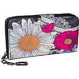 styleBREAKER Geldbörse mit Ethno Blumen und Blüten Muster, Vintage Design, Reißverschluss, Portemonnaie, Damen 02040040, Farb