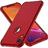 ORETECH Funda Compatible con iPhone XR, con 2 x Protector de Pantalla de Vidrio Templado 360°Carcasa para iPhone XR Case Sili