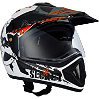 Off Road D/V Secret Dull White Black Helmet-L