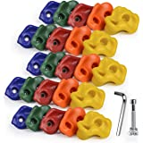 CHAIRLIN Klimstenen kinderen klimgrepen voor speeltoren klimwanden, kleurrijk voor een klimoppervlak, belastbaar tot 200 kg,