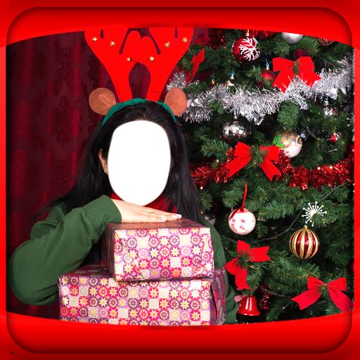 Weihnachten Foto-Montage (Familie Strümpfe Weihnachten)