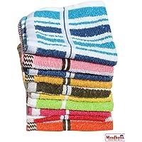 Mandhania Cotton Face Towels, 25x25x1cm(Multicolour) Pack of 10