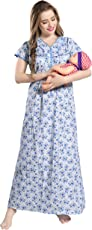 AV2 Women Printed Feeding/Nursing / Maternity Nighty 1184