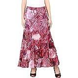 COTTON BREEZE Women Maxi Skirt (FP365_Pink_Free Size)