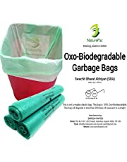 NaturePac Garbage Bags Biodegradable For Kitchen,Office,Medium Size (Green,48cmx56cm//19 Inch x 22 Inch,90 Bag)