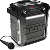 ION Audio Block Rocker Sport - 100Watt Bluetooth Party Lautsprecher mit wiederaufladbarem Akku, Mikrofon, Radio, LED-Licht, A