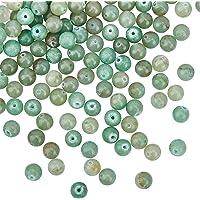 OLYCRAFT 141 pz 8mm Naturale Verde Avventurina Perline Natura Rotonda Jasper Perline Sciolto Perline di Pietre Preziose…