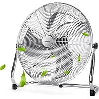 Aigostar Standventilator, Windmaschine mit 135° Neigbarerem Ventilator Kopf, 45cm Lüfter, 100W Bodenventilator…