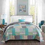 WOLTU Couverture de lit Patchwork, jeté de lit 220x240cm Couvre-lit matelassée pour lit Double,BD11m03