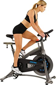 Sunny Health & Fitness Unisex Adult 5100 Asuna Magnetic Belt Drive Commercial Indoor Cycling Bike - Black/Silver, One Size