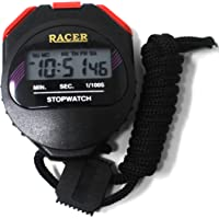 Fusine™ Racer Stopwatch with Alarm Handheld LCD Digital Professional Timer Sports Stop Watch