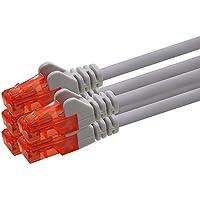 1aTTack.de Netzwerkkabel Cat6 1m - grau - 5 Stück CAT.6 Computer Kabel LAN Ethernet Gigabit Cat 6 Netzwerk Patchkabel…