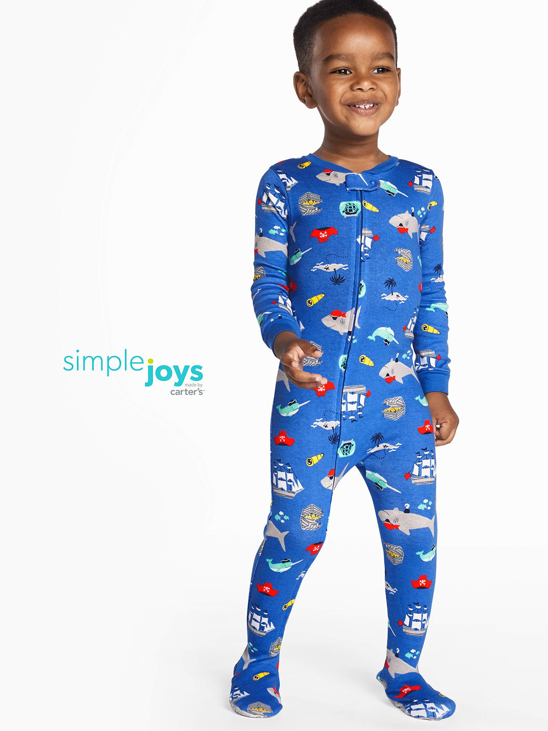 3 unidades Simple Joys by Carters pijama de algod/ón para beb/és y ni/ños peque/ños