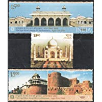 India 2004 Agra Fort & Taj Mahal ( Set of 3 Stamps ) Mint Unhinged
