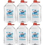 Vecaro, acqua distillata 30 litri in 6 taniche da 5 litri