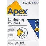 Fellowes Apex 6003501 Pochettes de plastification 125 microns - Format A4 - Pack de 100 pochettes -