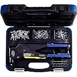 Rapid Blindklinktang Rp60 Multi Met 360 ° Draaibare Kop, Koffer Incl. 150 Klinknagels En 3 Boren