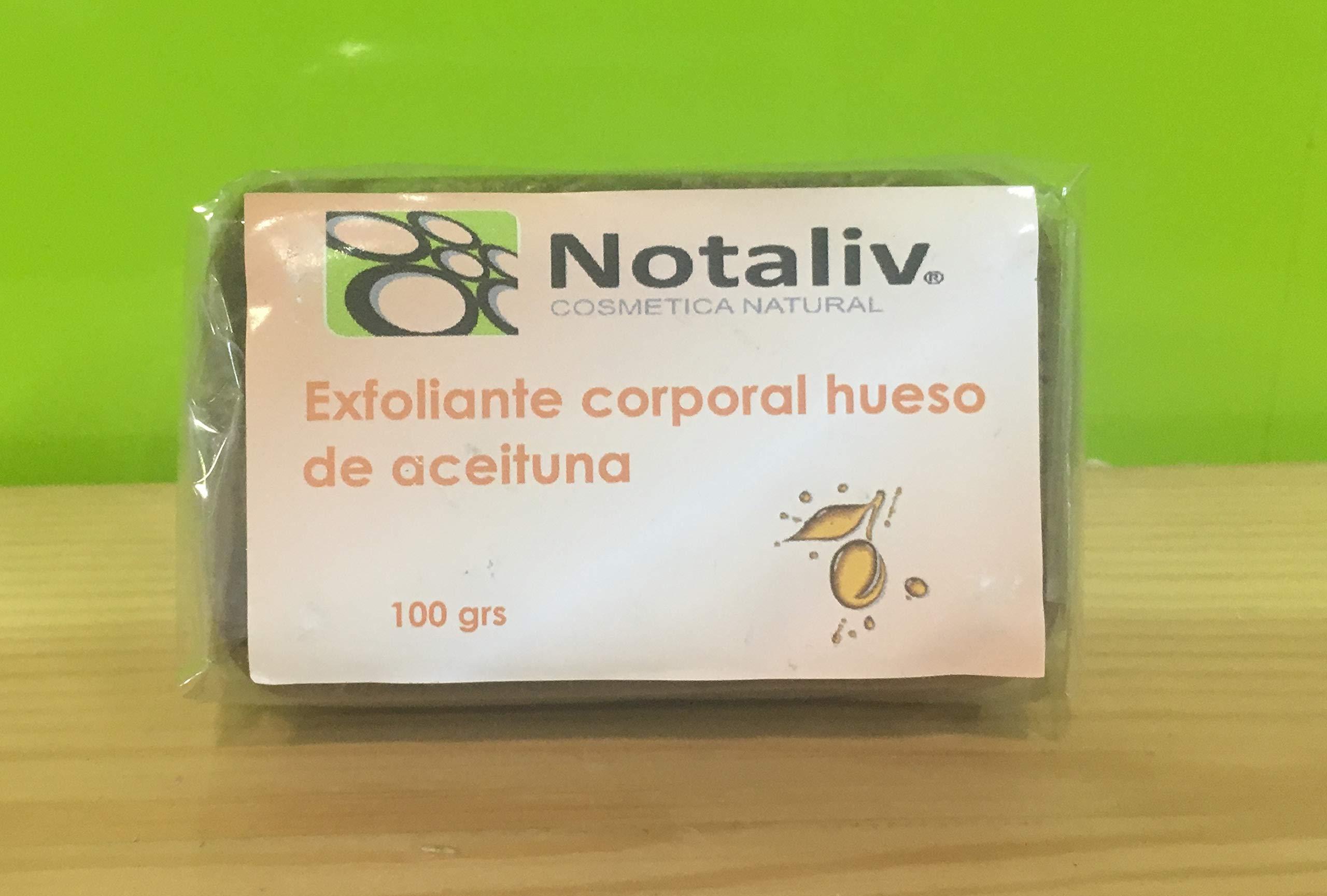 Notaliv Cosmética Natural Jabón exfoliante corporal hueso aceituna – 100g