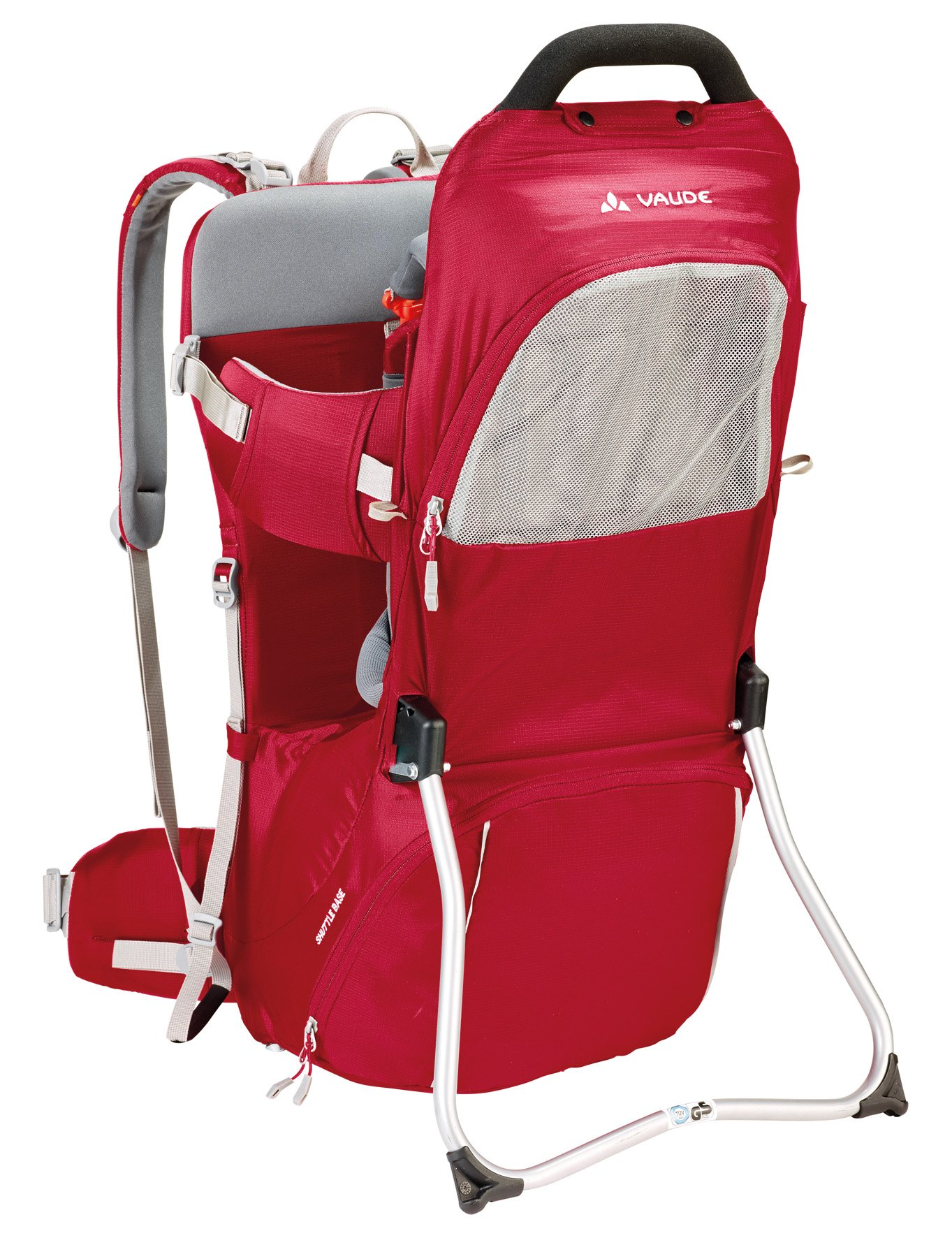 Vaude Shuttle Base Child Carrier Vaude Individually adjustable supportive back Padded hip belt with pocket. The Shuttle Base can safely carry children up to 105 cm or 18 kg Adjustable seat height. Maximum age: 3 years 1