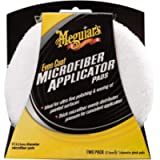 Meguiar's X3080EU Even Coat 5 Inch Microfibre Applicator Pads (2 Pack) for Hand Applying Compounds, Polishes and Leather…