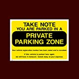 P33 Private Parking Clamping A4 200x300mm Rigid Plastic Sign OR Sticker