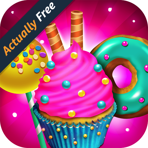 Candy Dessert Bakery Store - Make & Bake Donuts, Cake Pops, Cupcakes, Cookies, Popsicles, Ice Cream, Cakes! Kids Cooking Kitchen Food Maker Restaurant FREE Game
