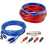 CAR HIFI Verstärker Endstufe Kabel Anschlusskabel KOMPLETTSATZ 20 qmm mit Cinch Kabel
