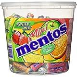 Mentos Mini Mentos Roll Fruit Mix, Confezione Regalo Secchiello da 120 Mini Roll Gusti Assortiti Fragola, Mela, Arancia…