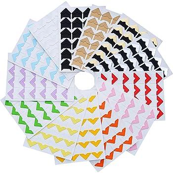 10 Blatt Aufkleber f/ür Fotoalben DIY Scrapbooking merhfarbig Papier-Aufkleber zum Basteln von Yigo Vintage-Eck-Kraftpapier 240 St/ück//Set Rahmen Dekoration