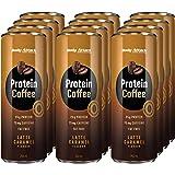 Café Proteico, Caramelo Latte, 12 x 250ml, café helado con cafeína, bebida de café arábica, bebida refrescante de mezcla de l