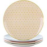 vancasso, série Natsuki, Assiette à Dessert, 4 pièces, en Porcelaine, Style Japonais
