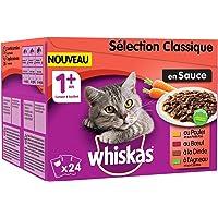 Whiskas Sélection Classique en Sauce – Nourriture humide pour chat adulte – Alimentation complète en sachets fraîcheur…