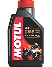 Motul 7100 4T 20W-50 API SN Fully Synthetic Petrol Engine Oil for Bikes (1.5 L)