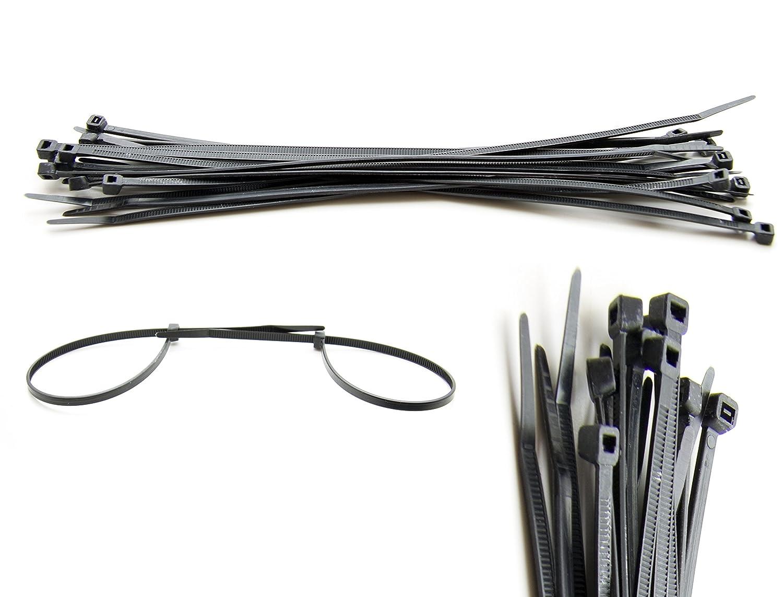 1000 Stück Kabelbinder in 4,8 mm x 300 mm, Schwarz: Amazon.de ...