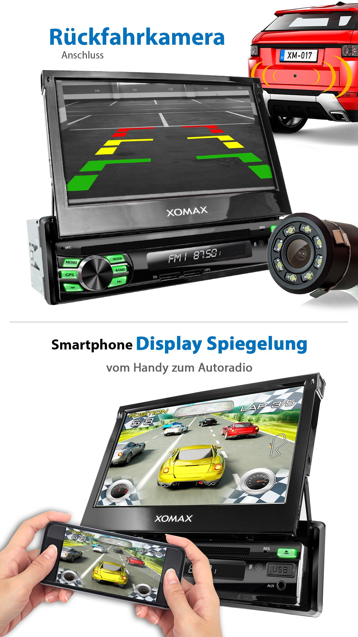 XOMAX-XM-DA708-Autoradio-mit-Android-711-2GB-RAM-Quad-Core-I-WiFi-3G-DAB-OBD2-Support-I-GPS-Navigation-Bluetooth-I-7-18-cm-Touchscreen-I-DVD-CD-USB-SD-I-1-DIN