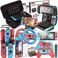 HEYSTOP Kit Accessori Compatibile con Nintendo Switch includere Custodia da Trasporto, Cover Protettiva, Grip e Volante…