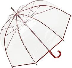 VON LILIENFELD® Regenschirm Glockenschirm transparent/durchsichtig Damen Herren Melina