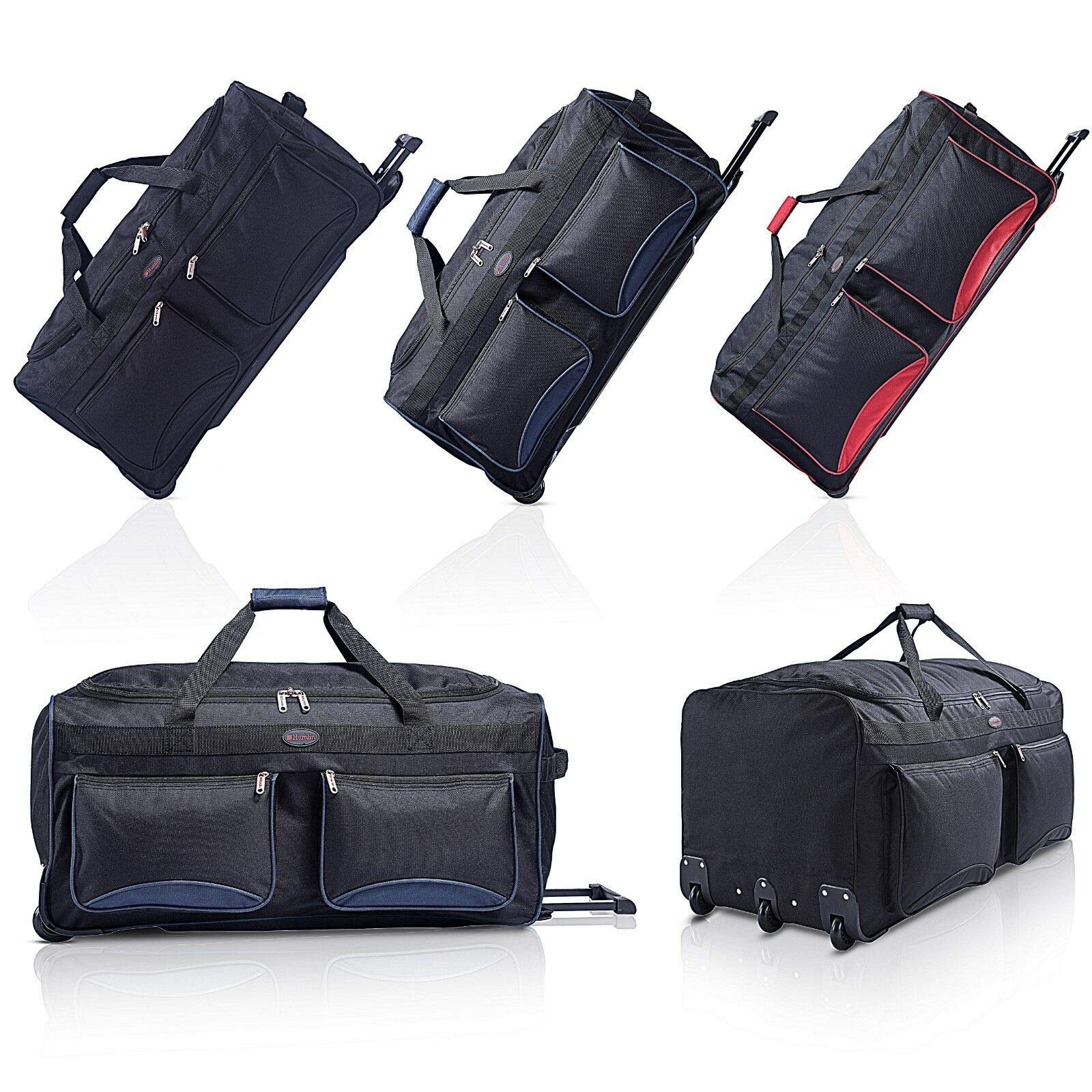 df6914c2c205 Travel Duffel Bag by HumlinTM | Wheeled Holdall | Lightweight Duffle with  Wheels for Men and Women - Luggage and Travel Accessories