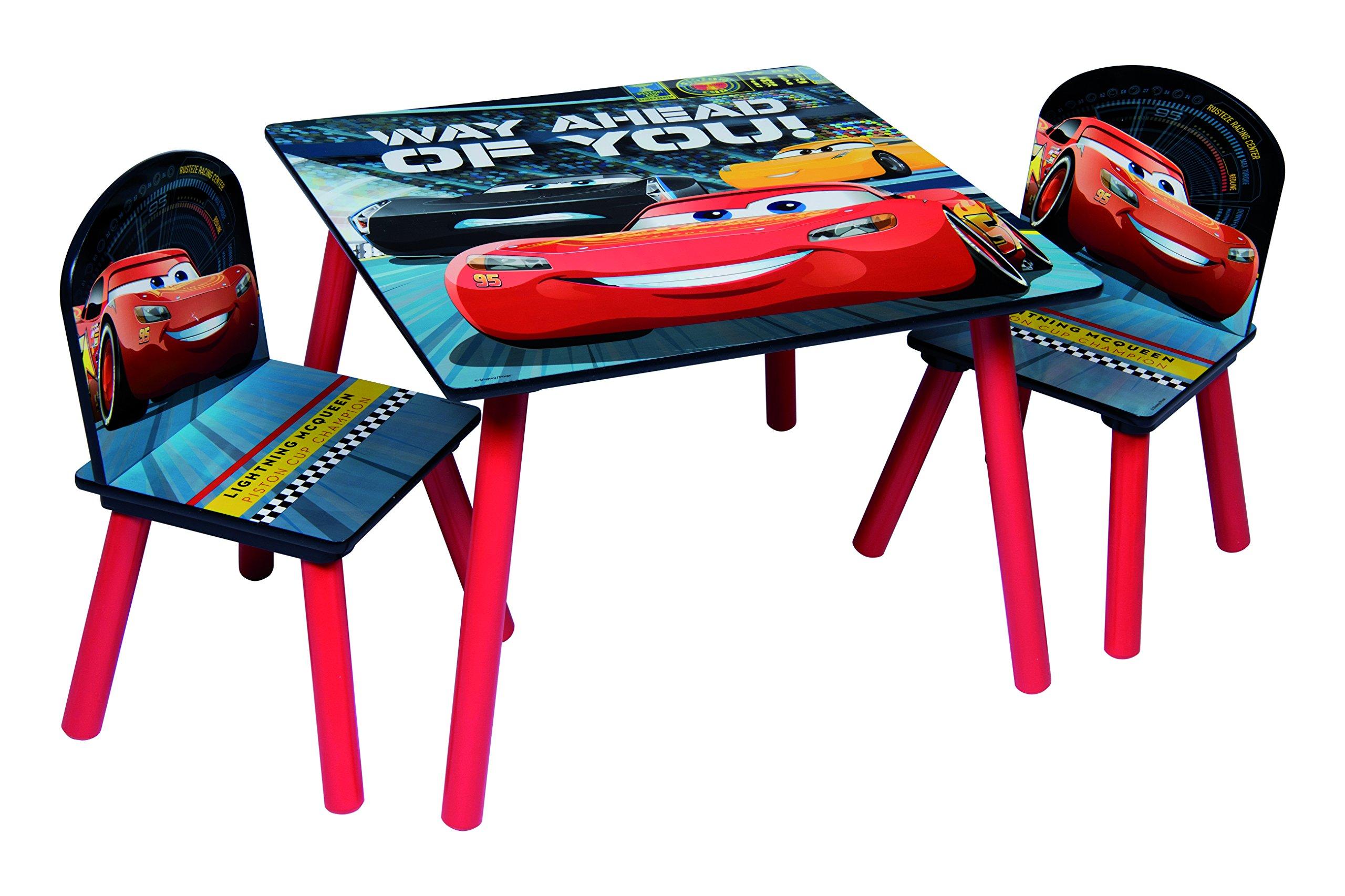 Tavolino Disney Legno.Disney Pixar Cars 3 2 Tavolo E 2 Sedie Mdf Rosso Non Applicabile Giochi Legno