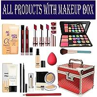 volo All In One Makeup Kit(3 Lipstick,5 MINI Lipstick,Eye Shadow,Foundation,Pen Eyeliner,Compact,Primer,Kajal,Lip Liner…