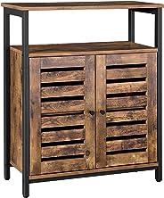 VASAGLE ladenkast Kast, dressoir, keukenkastje met plank en lamellendeuren, multifunctioneel, woonkamer, slaapkamer, hal, in