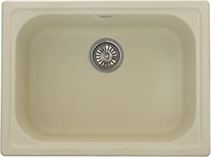 ZINZER Granite/Quartz Kitchen Sink : The 24 X 18 Matt - Ivory Color