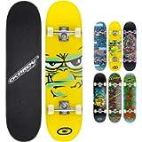Osprey Kids Skateboard, 31 Inch Double Kick Skateboard for Beginners with Maple Deck, for Boys & Girls, Multiple Designs