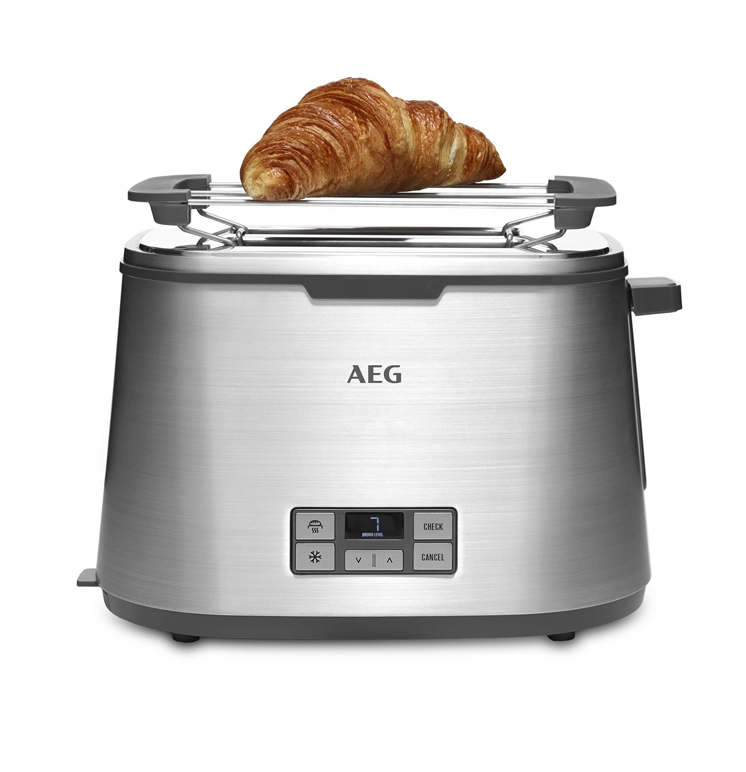AEG-Toaster-PremiumLine-7Series-AT-7800-HighContrast-LCD-DisplayCountdown-Toasten-7-BrunungsgradeBrtchenaufsatz-2-ScheibenEdelstahl