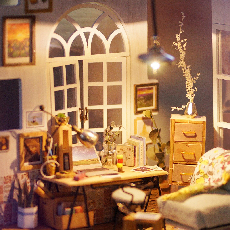 Robotime Casa delle Bambole con Accessori e mobili Costruzione di camere in  Legno Regalo Creativo per Ragazze di 14 Anni e Oltre