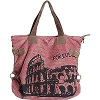 UUstar® Frau vintage Schultasche Canvas Handtasche Rucksack Groß Umhängetasche Reisetasche Ipad Kameratasche Schule…