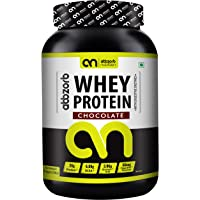 Abbzorb Nutrition Whey Protein 26g Protein | 6.9g BCAA -with Digestive Enzymes (Chocolate, 1 Kg)