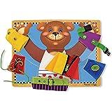 Melissa & Doug Basic Skills Board (Developmental Toys, 6 Removable Pieces & Puzzle Board, Practice Fine Motor Skills, Great G